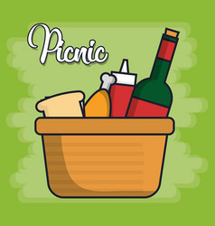 picnic related icons vector image