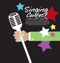 Singing Contest vector image vector image