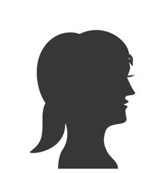 woman head profile silhouette icon vector image