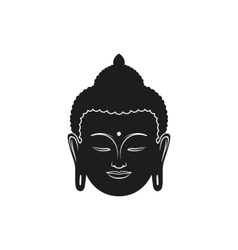 beautiful buddha face vector image vector image