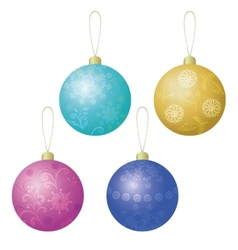 Christmas decoration set balls vector image vector image