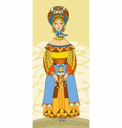 girl in traditional clothes vector image