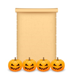 Halloween parchment vector image vector image