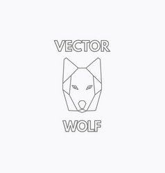 linear wolf symbol vector image