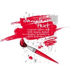 Red brush vector