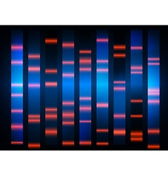 colourful medical dna results with black vector image
