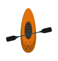 kayaking board oar recreation camping vector image vector image