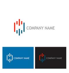 line technology logo vector image