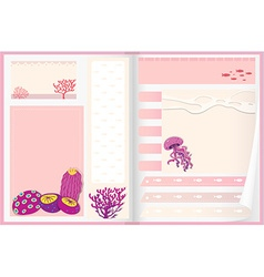 Paper design with coral reef vector image vector image