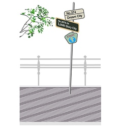 Street Sign Post vector image vector image