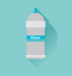 Water bottle flat design with shadow use for card vector