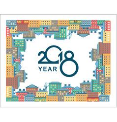 2018 calendar city vector