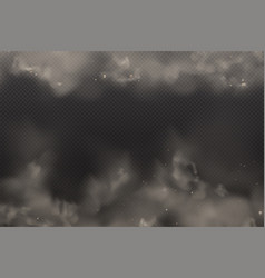 3d yellow and browon dust on dark vector