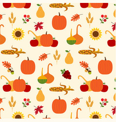 autumn harvest pattern vector image