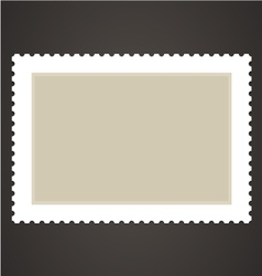 blank stamp vector image