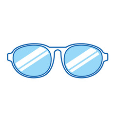 Blue icon sunglasses cartoon vector