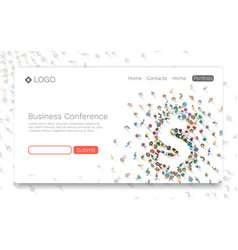 business conference landing page concept vector image