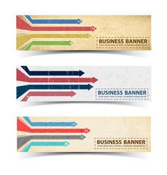 business retro horizontal banners vector image
