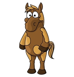 Cartoon horse character vector