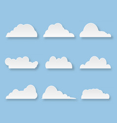 cartoon messages in form clouds on blue vector image
