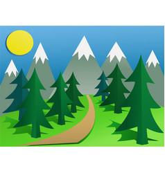 cartoon mountain landscape vector image