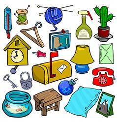 Cartoonish objects vol 1 vector image