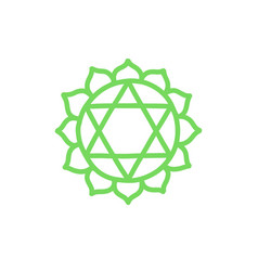 Chakra anahata doodle icon color vector