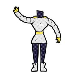 comic cartoon female robot body mix and match vector image