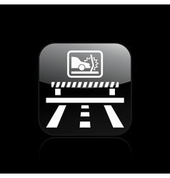 crash car icon vector image