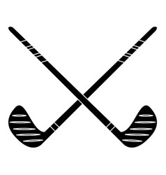 crossed stick hockey sport pictogram vector image
