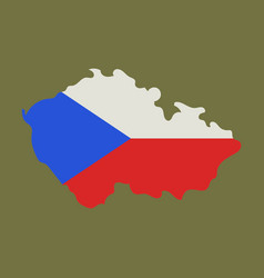 Czech republic set detailed country shape with vector