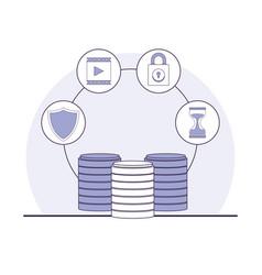 Data center technology vector