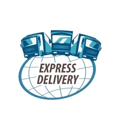 delivery logo design template traffic or vector image