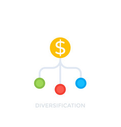 Diversification icon on white vector