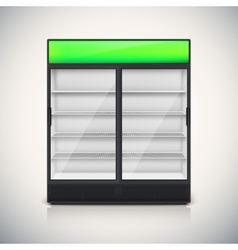 Double fridge with glass door vector image