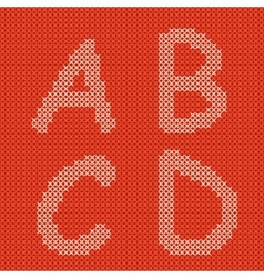 embroidering alphabet vector image