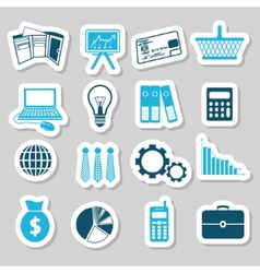 Finance stickers vector