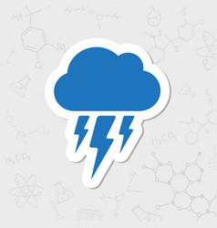 flash icon epsflat sticker 0 vector image