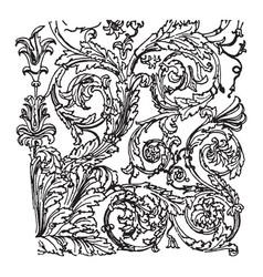 Florentine tablet has a ancient rome vintage vector
