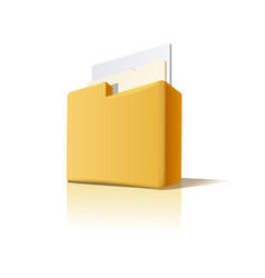 folder with documents vector image