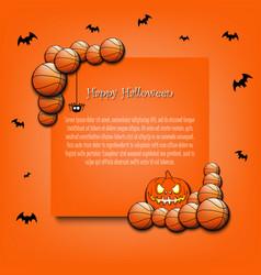 frame halloween with basketball balls vector image