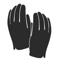 golf gloves silhouette vector image