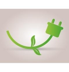 Green energy icon vector