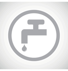 Grey water tap sign icon vector