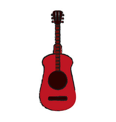 Guitar draw vector