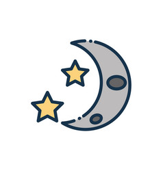 Half moon and stars astronomy and space vector