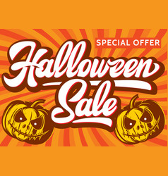 halloween sale banners background vector image