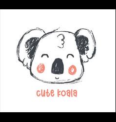 Hand drawing cute koala vector