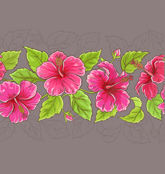 Hibiscus horizontal pattern vector