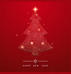 holiday background with glittering christmas tree vector image